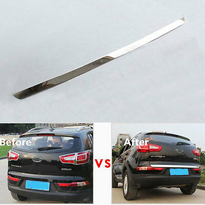 For Kia Sportage R 2011-15 Car Stainless Rear Tailgate Door Trunk Lid Cover Trim