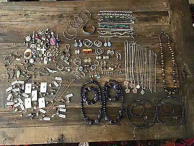 sterling silver / assorted mixed wearable signed jewelry (no scrap) / lot 1539g
