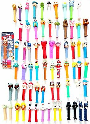 Lot of 67 Pez Dispensers  (1 Klik)  Used   Never Researched