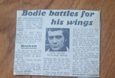Lewis Collins Bodie The Professionals article Bodie Battles for his Wings