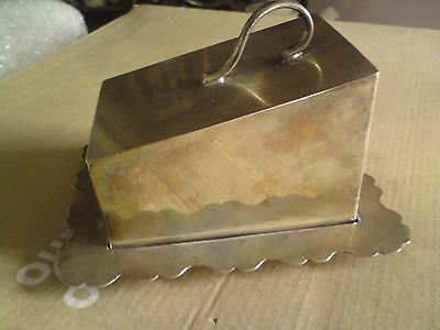 Lovely vintage D&H  EPNS silver plated butter/ cheese lidded  dish FREE-MAILING.