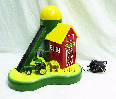 USED JOHN DEERE Coin Sorter DELUXE  ACTION MECHANICAL BANK w/SOUND