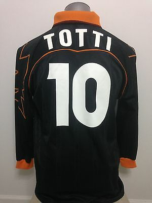 1999-00 As Roma Totti #10 3rd Shirt XL Long Sleeve Rare To Find!