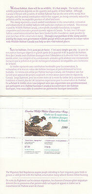 Canada MNH Wildlife Conservation 1990 UNITRADE FWH6  Value $ 35.00