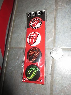 """Unused Set of 4  """" ROLLING STONES """"  Pins PINBACKS Buttons ~ FREE SHIPPING!"""