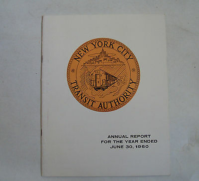 New York City Transit Authority Annual Report 1960