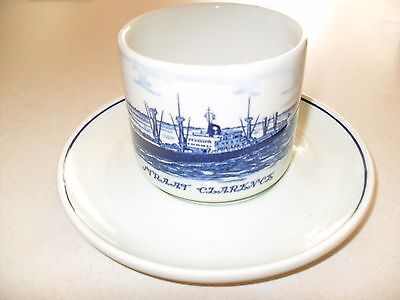 Dutch Royal InterOcean Lines cup and saucer