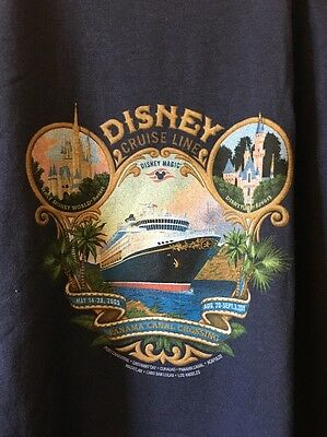 Disney Cruise Line Panama Canal Crossing 2005 XXL NWT Men's