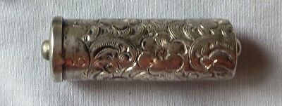 Victorian Sterling Silver Sewing Needle Box   Holds different size needles