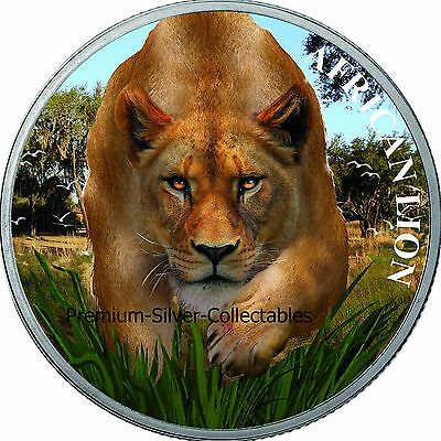 2017 African Lion Series Chad - 1 Ounce Pure Silver .9999 Collect the Series!