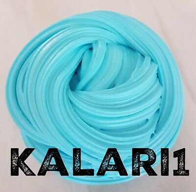 BLUE Fluffy Slime 4OZ Strawberry Scented | FREE FIRST CLASS POSTAGE