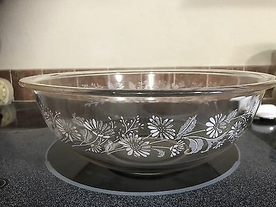 Pyrex Corning NY Clear Mixing Bowl Colonial Mist 326 Series 4.L VTG