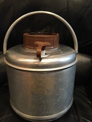 VINTAGE ALUMINUM COOLER One Gallon Thermos/Cooler