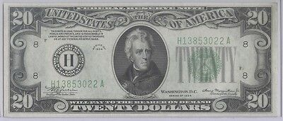 1934 $20 Dollar Federal Reserve Notes - FRN - St Louis - CU/Uncirculated