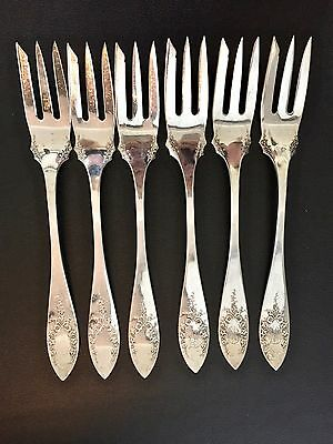 6 x 1930's International Sterling (Indian Head) Forks 227 Grams