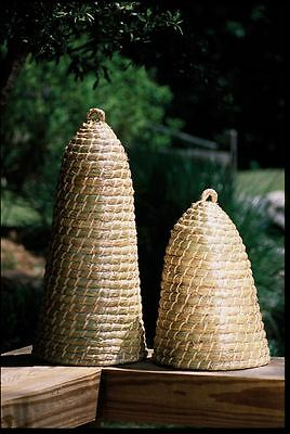 Gorgeous Set of TwoTall Bee Skep,19'' & 27''H
