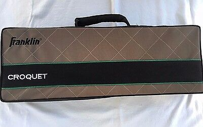 Croquet Set Franklin Steel Banded Six Outdoor Yard Game Metal Wickets NEW