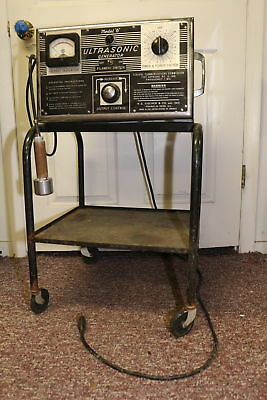 Ultra Sonic Model 6 Generator Fisher Machine Age Stand Steampunk Quack Medical