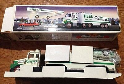 1988 Hess Toy truck and racer MIB
