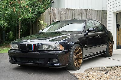 "2003 BMW M5  2003 BMW M5 Black E39 Sedan 4dr RWD 6spd manual 4.9L V8 400hp 19"" Wheels"
