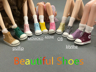 3 Pairs lot Multicolor Fashion Blythe Shoes Licca Azone Momoko Jerryberry Shoes