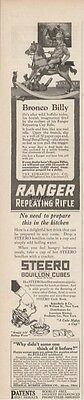 1923 Ranger Repeating Rifle Toy Cap Gun Bronco Billy Edwards Cincinnatti OH Ad
