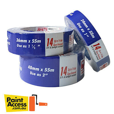 HyStik Premium 14 Days Masking Tape Rolls ALL SIZES - EASY REMOVAL & CLEAN EDGES