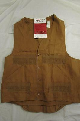 Vtg NOS 60s Red Head Blue Bill Hunting Vest Deadstock 50s Work Wear Sz XL Japan