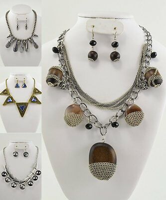 Special 4 SETS HIGH END QUALITY COSTUME JEWELRY NECKLACE & EARRINGS#7