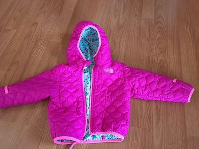 North Face Perrito Baby Girls Infant 18-24 months Reversible Winter Jacket Coat