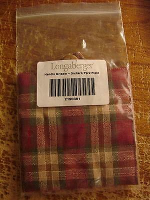 Longaberger Handle Gripper Orchard Park Plaid BRAND NEW Free Shipping