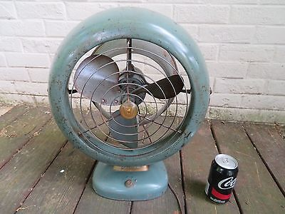 Industrial Mid-Century Vintage 1950's VORNADO B28C1 Retro Blue Electric Desk FAN