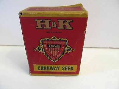 H&K Caraway Seed Spice Tin Box Unopened H&K Coffee St. Louis Mo