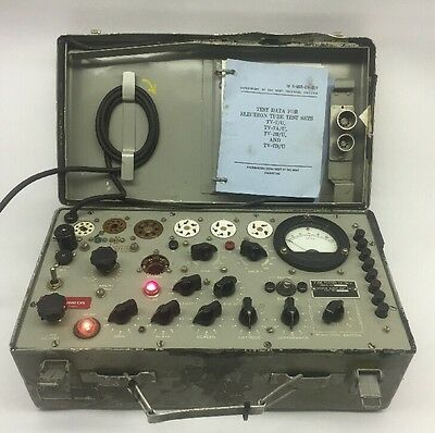 Vintage Hickok Army Military Tv-7B/u Transconductance Electron Tube Tester