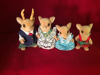 Calico Critters Sylvanian Families The Moss Reindeer Family RARE Retired Figures