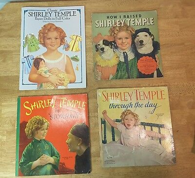 SHIRLEY TEMPLE:  3 Framed Pictures 3 Music Selections 3 Story Books 1 Paper Doll