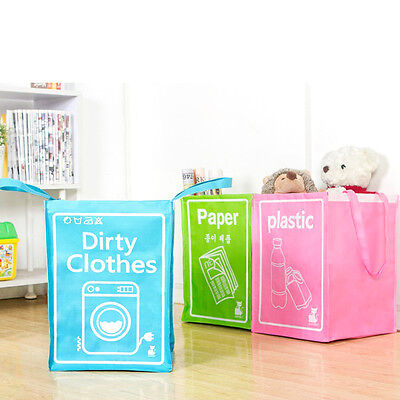 Foldable Colorful Woven Large Laundry Basket Dirty Clothes Storage Basket