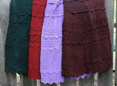 "New Colors Mexican ""Pico"" Skirt 100% Cotton Falda - Frida Hippie Boho Cowgirl"