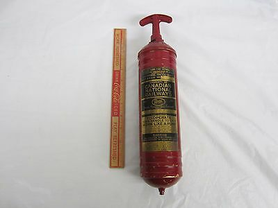 Rare Canadian National Railways  Fire Extinguisher