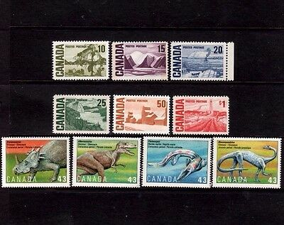 Canadian Postage Stamps - 10 Stamps - Mint