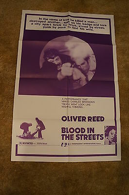 Blood In The Streets  Revolver  Oliver Reed  Crime One Sheet 1975