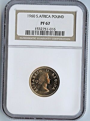 1960 South Africa 1 Pound PF67 NGC OLD HOLDER 1960 PND £