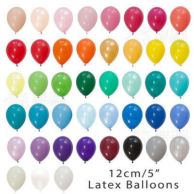 "60+ Colours Bulk 100-Pack 12Cm/5"" Mini Latex Balloons Birthday Party Wedding"