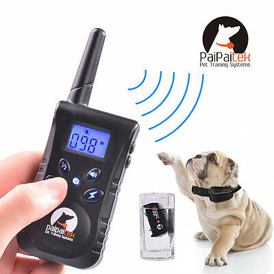 500 Yard Pet Dog Training Collar Waterproof Rechargeable Remote Electric Shock