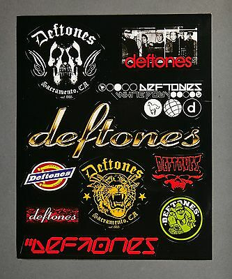 DEFTONES 2005 B-Sides & Rarities Promo 10 Sticker Decal Sheet NEW NEVER USED