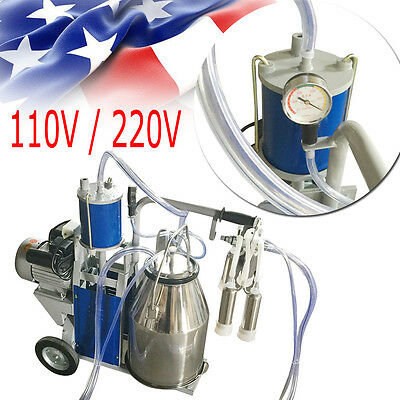 Electric Milking Machine For Farm Cows Bucket 304 Stainless Steel Bucket【USA】FDA