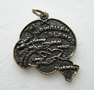 Old - The Hawaiian Islands / Sterling  Pendent.