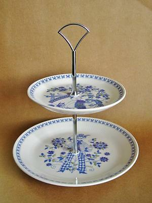 Figgjo of Norway LOTTE serving / cake stand 2 tier, Highly collectable