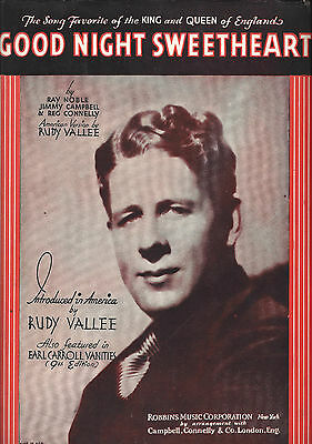 """Rudy Vallee """"EARL CARROLL VANITIES"""" Ray Noble / Jimmy Campbell 1931 Sheet Music"""