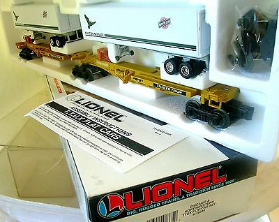 Lionel 16334 C&NW TTUX 2 Flat Cars Container Load Articulated Set LNOB 1991